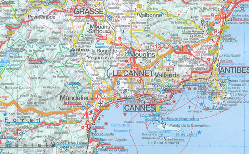 French Riviera Provence Map Marco Polo Maps Books