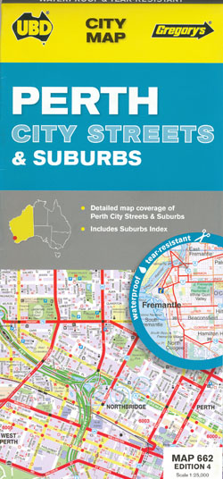 Perth City Streets and Suburbs 662 4th Edition UBD Gregorys