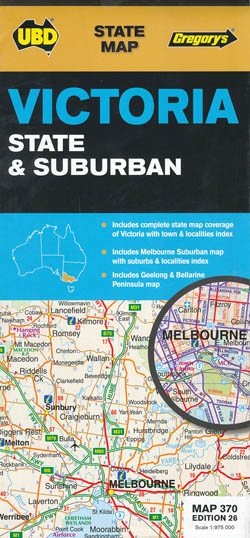 Victoria State and Suburban Map 370 26th Edition UBD Gregorys