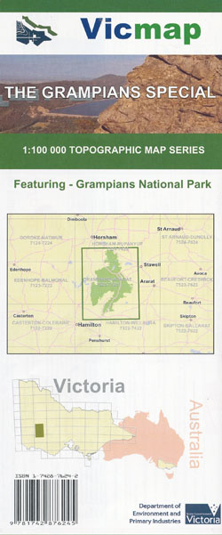 The Grampians Special 1-100,000 Topographical Map Vicmap