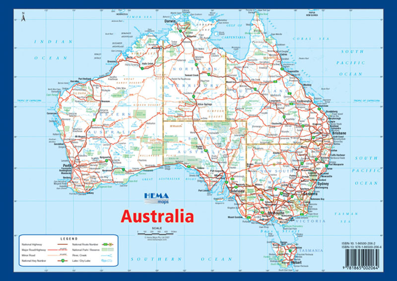 Australia A Map Hema Maps Books Travel Guides Buy Online - Australian road maps free
