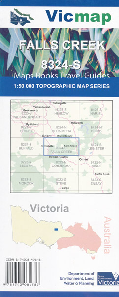 Falls Creek 1-50,000 Vicmap