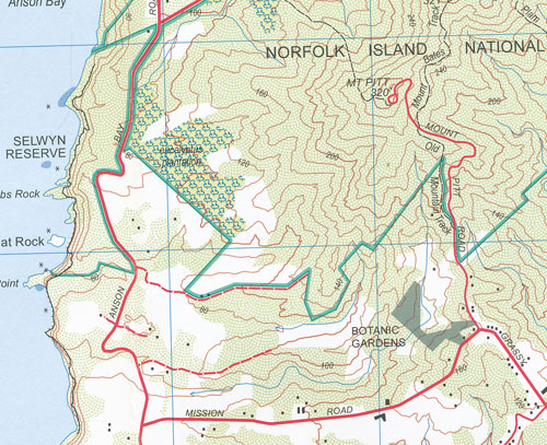 Norfolk Island Topographic Map Geoscience Maps Books Travel