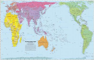world peters projection map hema laminated