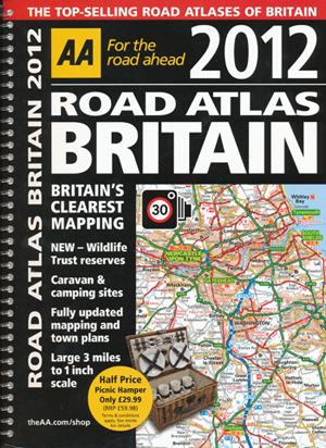 britain road atlas 2012 aa spiral
