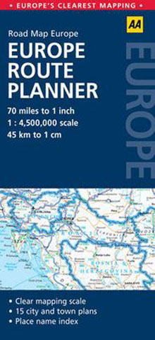 Europe Route Planner Map AA