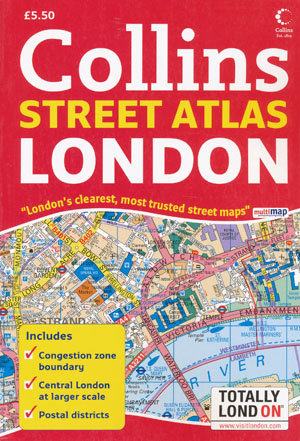 London Street Atlas Collins Perfect Bound