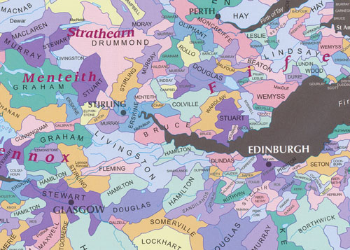 Scotland of Old Clans Map Collins | Maps | Books | Travel