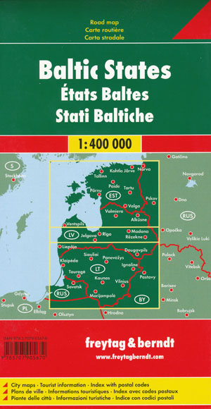 Baltic States Map Freytag and Berndt