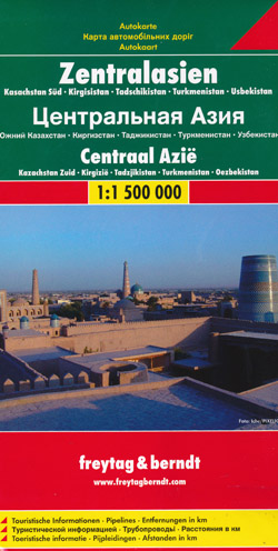 Central Asia Map Freytag and Berndt