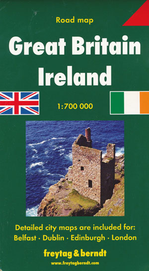 Great Britain Ireland Map Freytag and Berndt