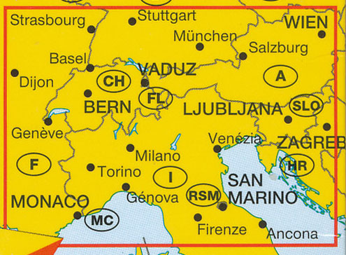 Alps Map Marco Polo Europe Maps Books Travel Guides Buy Online