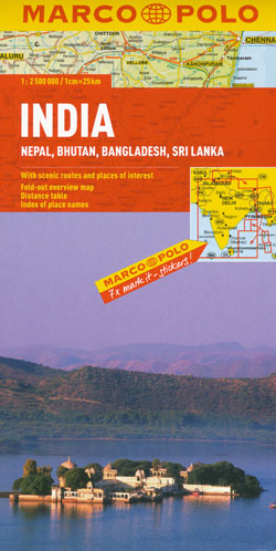 India Nepal Bhutan Bangladesh Sri Lanka Map Marco Polo