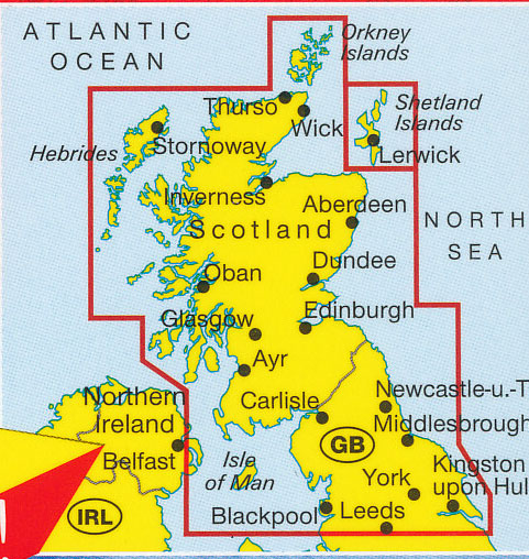 Map Of North England And Scotland.Scotland Northern England Map Marco Polo Maps Books Travel