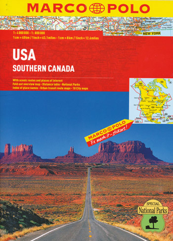 USA Atlas Marco Polo and Southern Canada