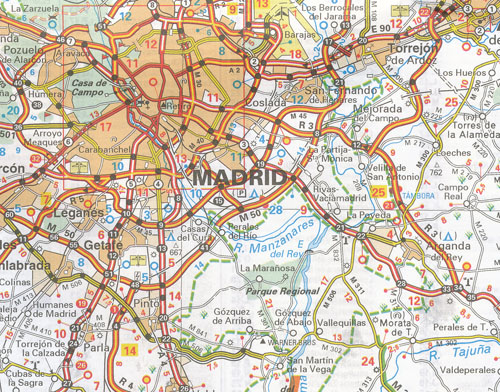 Map Of Central Spain.Spain Central Extremadura Cast Illa La Mancha Madrid Map 576