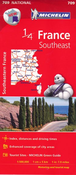 France Southeast Map 709 Michelin