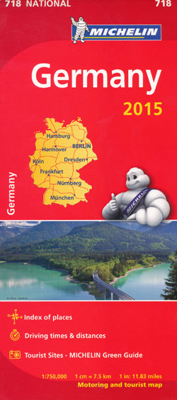 Germany Map 718 Michelin 2015