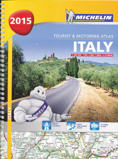 Italy Tourist and Motoring Atlas Michelin 2015