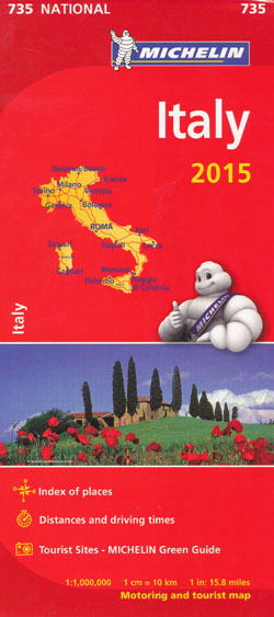 Italy Map 735 Michelin 2015