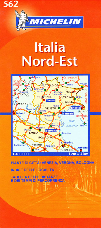 Map Of North East Italy.Italy North East Map 562 Michelin Maps Books Travel Guides