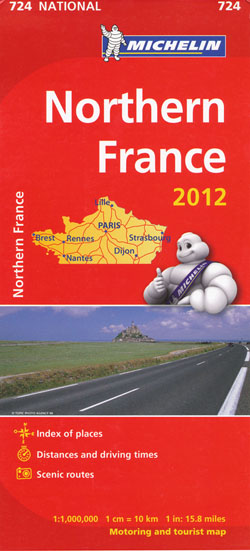 Northern France Map 724 Michelin 2012