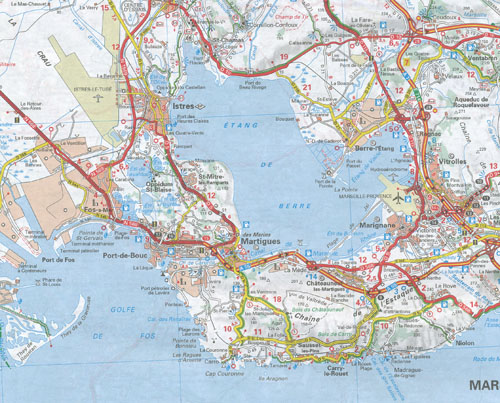 Provence Alps French Riviera Map Michelin Maps Books - French maps online