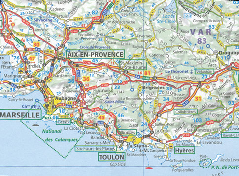 Map South Of France.Southern France Map 725 Michelin 2013 Maps Books Travel Guides