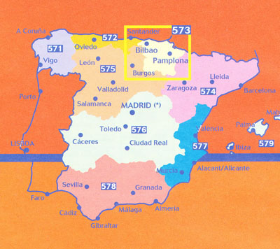 Map Of Spain North.Spain North Central Map 573 Michelin Maps Books Travel