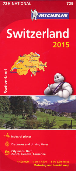 Switzerland Map 729 Michelin 2015