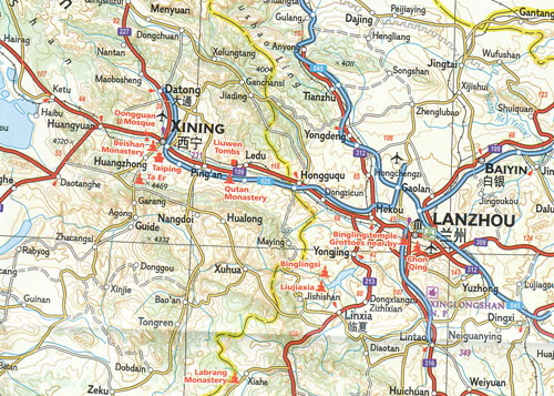 National Geographic Map Of China.China West Map National Geographic Folded Maps Books Travel