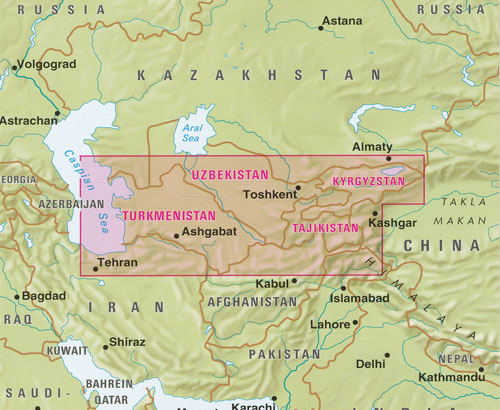 Central Asia Map Nelles | Maps | Books | Travel Guides | Buy Online