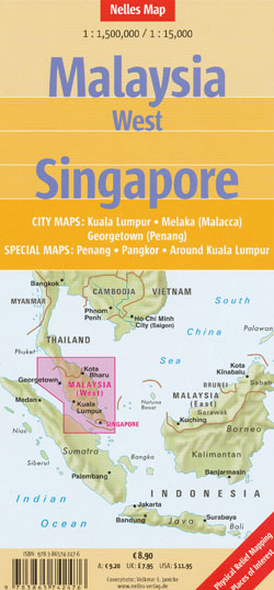 Malaysia West Singapore Map Nelles | Maps | Books | Travel Guides ...