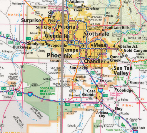 Arizona Easy To Fold Map Rand McNally Maps Books Travel Guides - Rand mcnally online maps