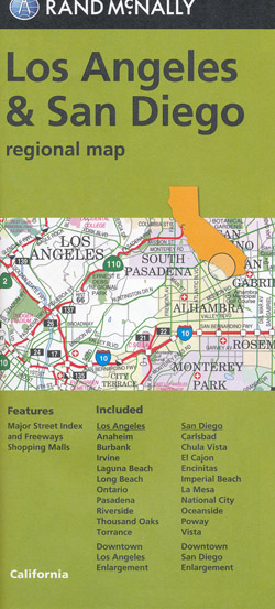 Los Angeles and San Diego Map Rand McNally