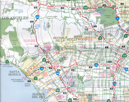 Los Angeles And San Diego Map Rand McNally Maps Books Travel - Rand mcnally online maps