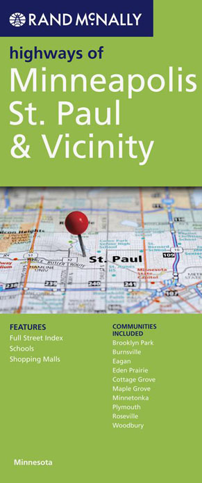 Minneapolis St Paul and Vicinity Map Rand McNally