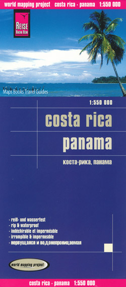 Costa Rica and Panama Map Reise