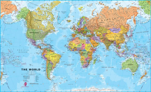 World wall maps maps books travel guides buy online world maps international super paper gumiabroncs Images