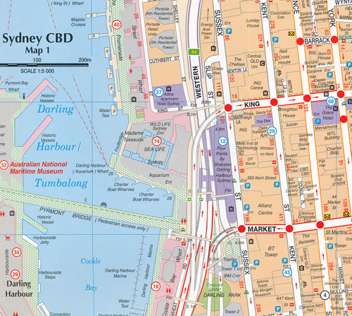 Sydney City and Suburbs Map RACV Maps Books Travel Guides