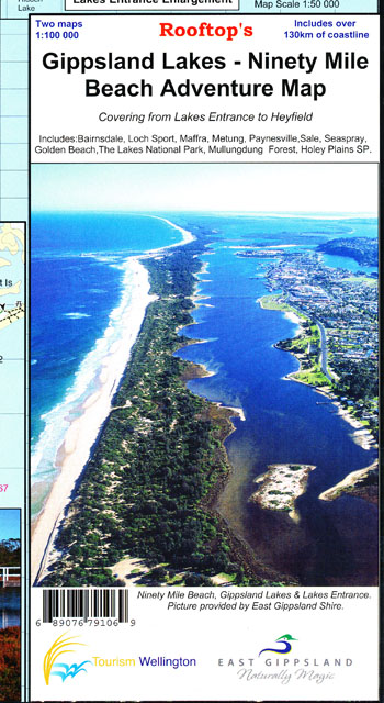 Gippsland Lakes 90 Mile Beach Map Rooftop