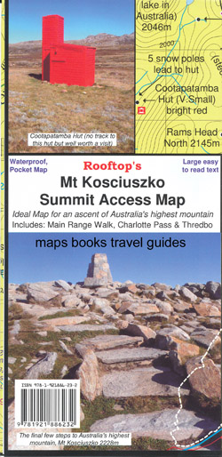 Mt Kosciusko Summit Pocket Map Rooftop