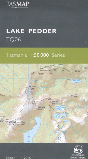 Lake Pedder 1-50,000 Tasmap Topographic Map