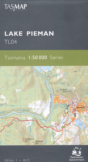 Lake Pieman 1-50,000 Map Tasmap