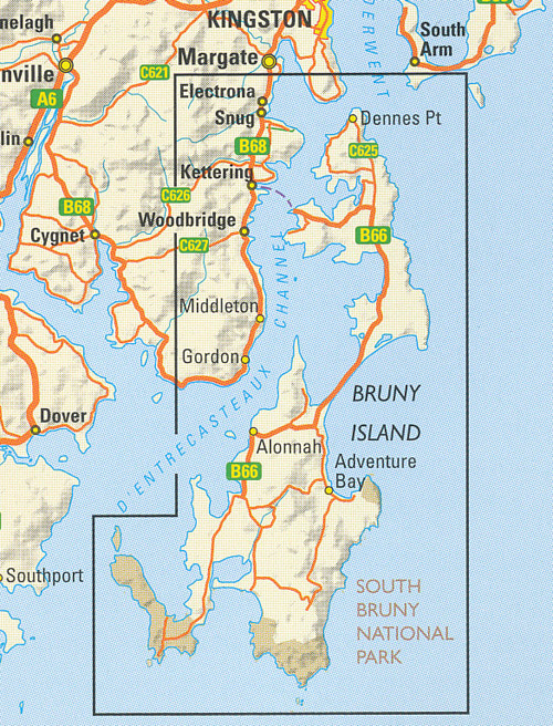 Bruny Island Map Bruny Island Walks Map Tasmap | Maps | Books | Travel Guides | Buy