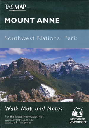 Mount Anne Map Tasmap