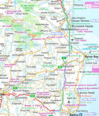 Nsw North Coast Map Far North Coast NSW 296 UBD Gregorys | Maps | Books | Travel