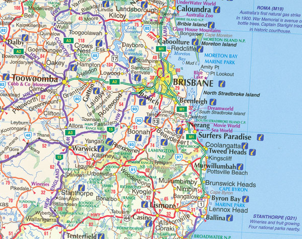 Detailed Map Of Queensland Australia.Queensland State And Cities Map 419 5th Ubd Gregorys Maps