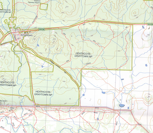 Costerfield North 1-25,000 Vicmap