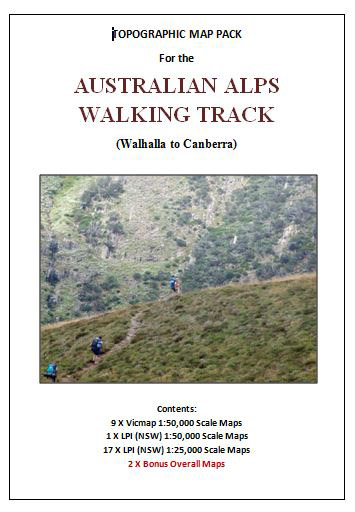 Australian Alpine Walking Track Map Set 1